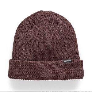 Volcom brown ribbed knit tuque  / hat NWT